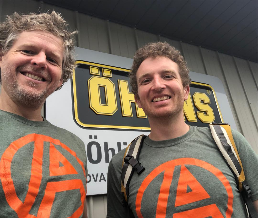Drew & Toby at Ohlins