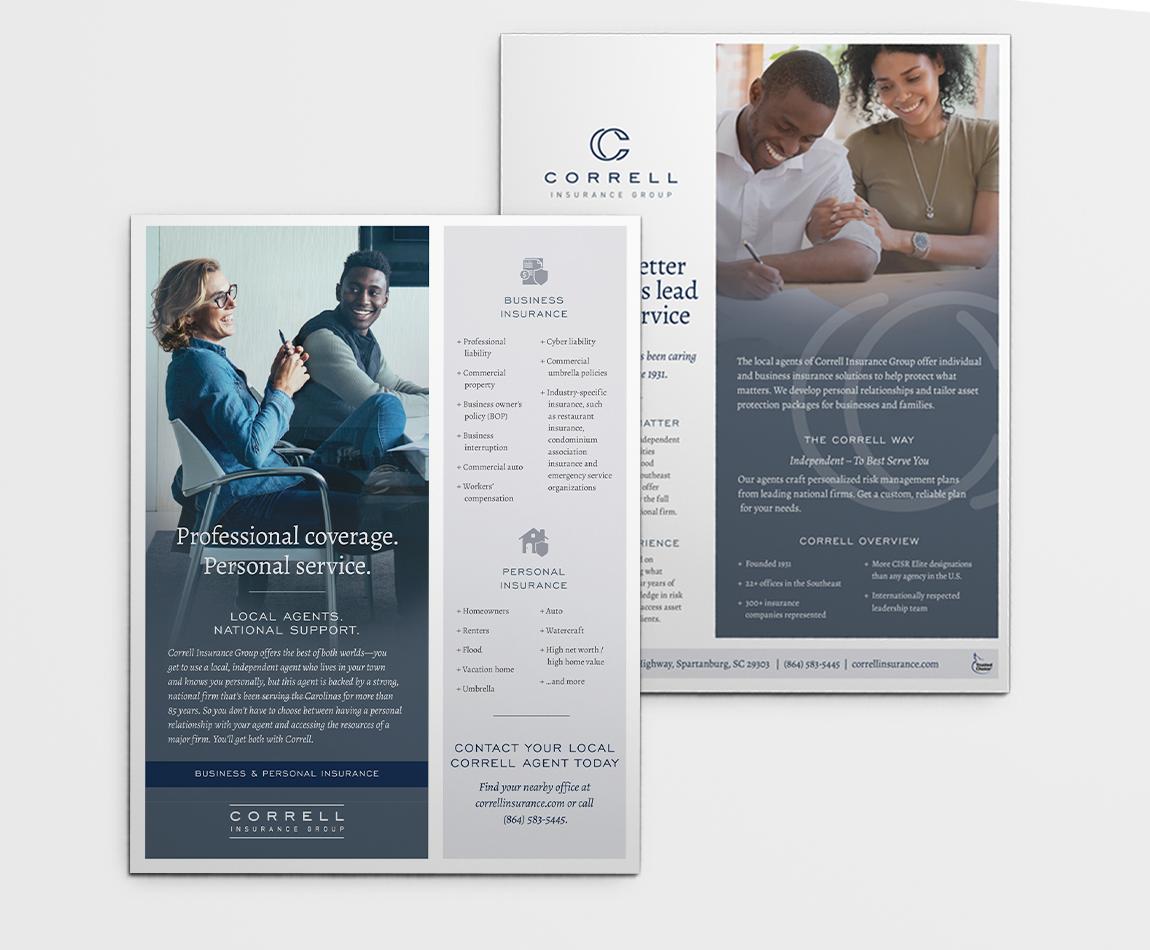 Brochure Design for Correll Insurance