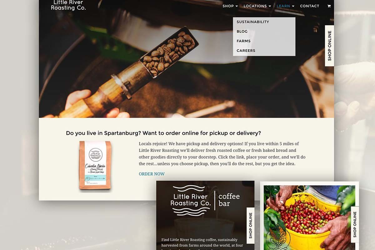 Little River Roasting eCommerce Website